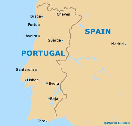Portugal Business Class First Class Airfares Luxury Travel - Portugal map major cities