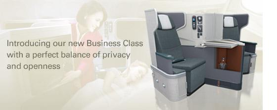 cathay pacific business class. Business Class to Asia and