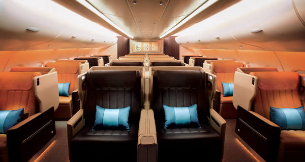 Singapore Business Class Bed