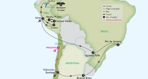 APT Tours 2017 – 24 Day Best of South America with Amazon Cruise