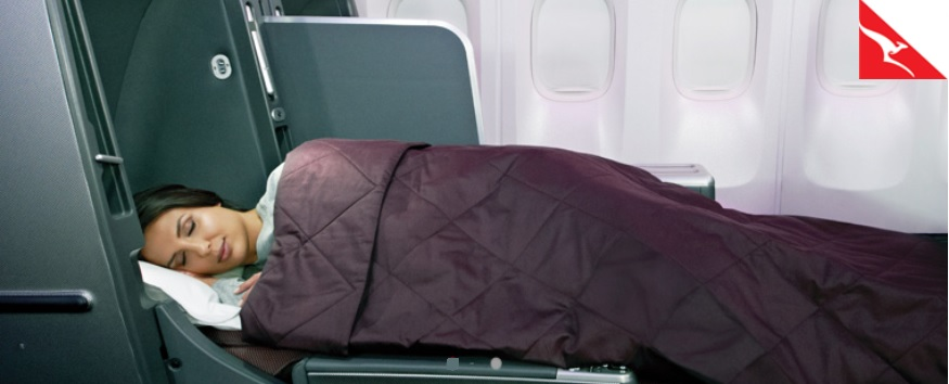 Qantas Airways Business Class beds