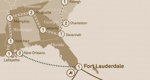 Scenic Tours 2017 – Historic Trails, Southern Belles & the Caribbean (New York City to Fort Lauderdale)