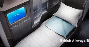 One Way Upgrade from Business to First Class to Europe with British Airways