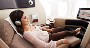 Qantas Airways Free First Class upgrade to London