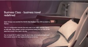 Qatar Airways Premium Class Service to Europe