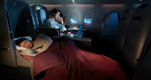 Mixed Business and Economy Class Flights to Europe with Qantas Airways