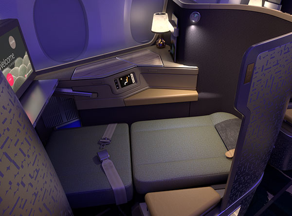 China Airlines Premium Business Class Flat Bed
