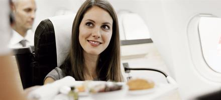 Swiss Air Business Class Fine Dining Experience