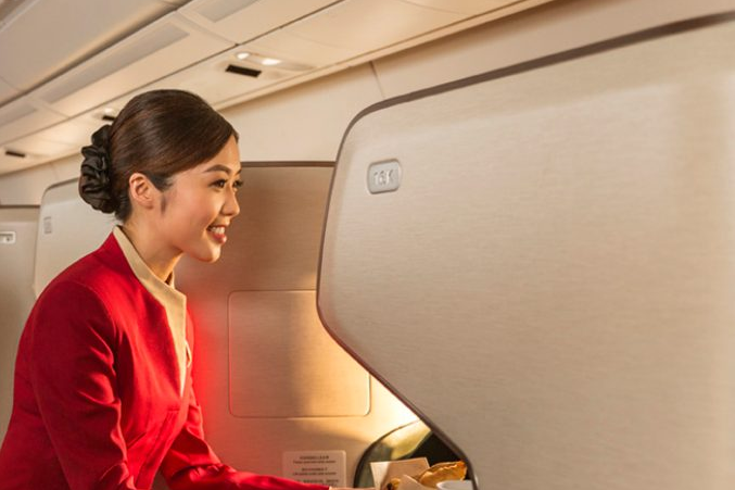 Cathay Pacific Business Class Flight Attendant