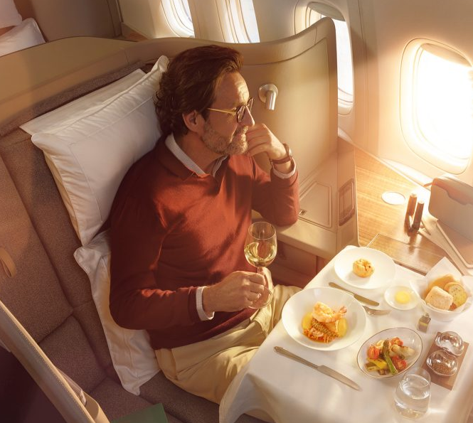 Cathay Pacific First Class Fine Dining