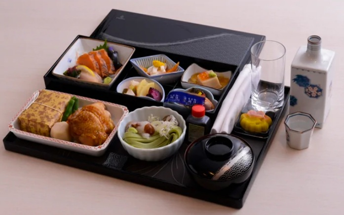 Emirates Business Class Japanese Meal