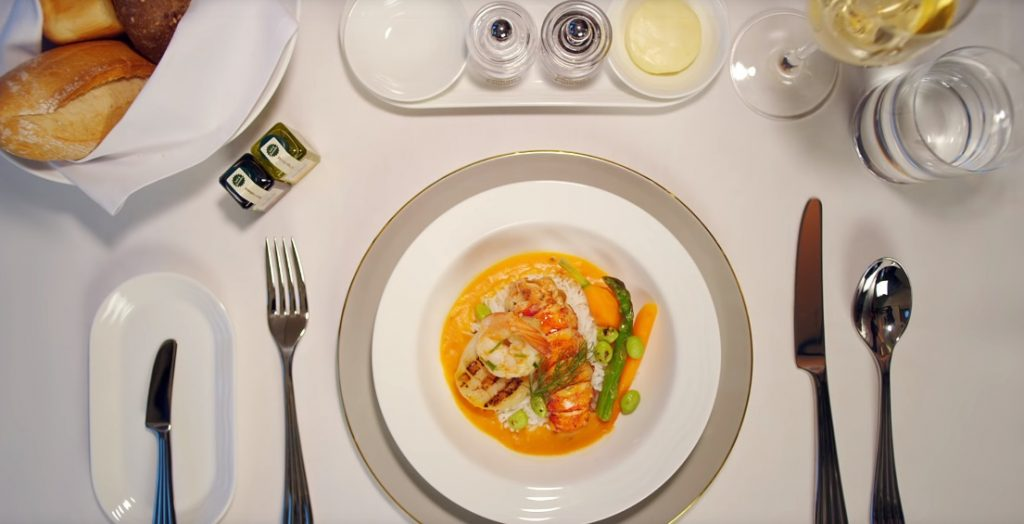 Emirates First Class Fine Dining Experience