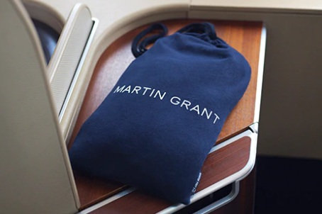 Qantas First Class Amenity Kits