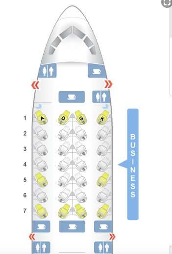 Vietnam Airlines Seat Map on Dreamliner 787