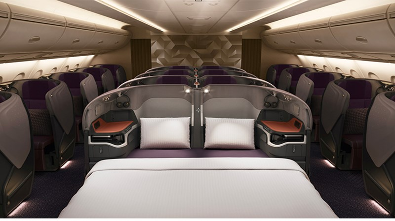 Singapore Airlines New Double Bed