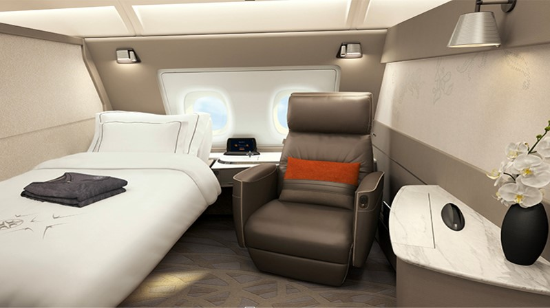 Singapore Airlines New Suite Bed & Chair