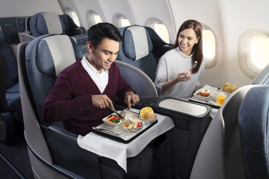Philippines Airlines Business Class Dining