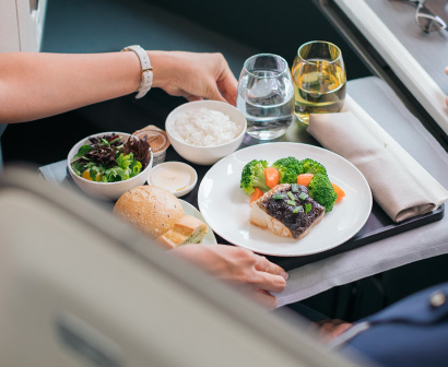 Cathay Pacific Business Class Dining Experience