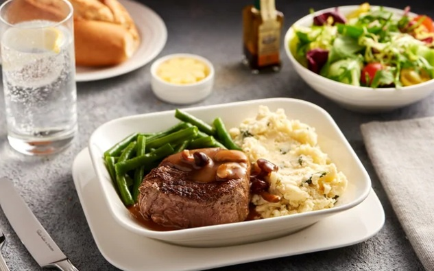Emirates Business Class Fine Dining