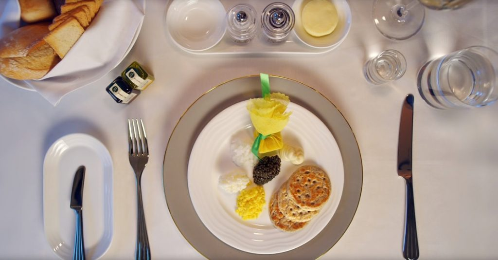 Emirates First Class Caviar Experience