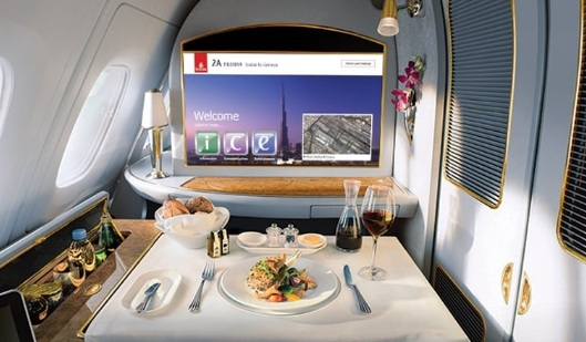 Emirates First Class Dining Experience