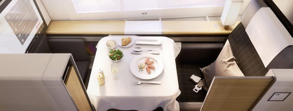 Swiss Air First Class Seat