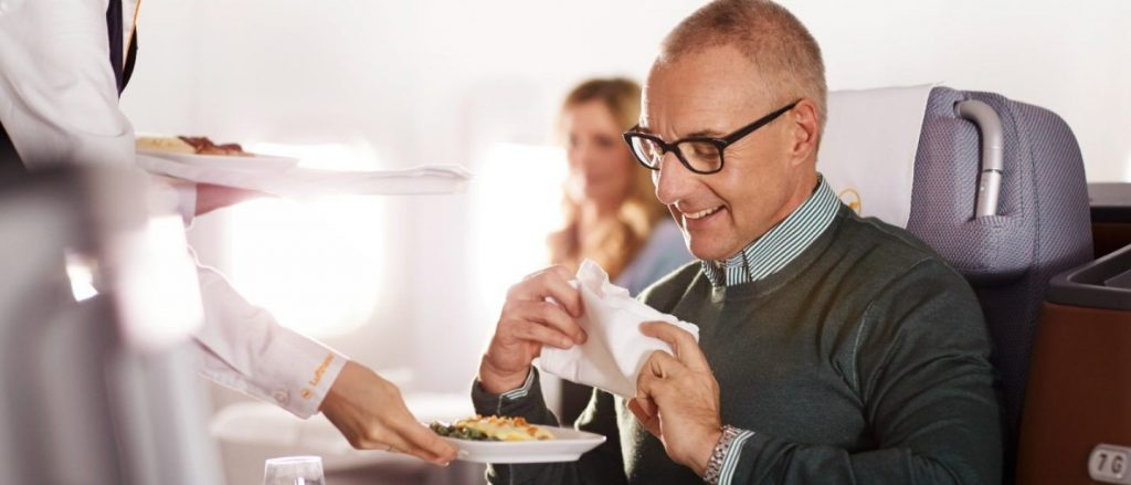 Lufthansa Business Class Fine Dining