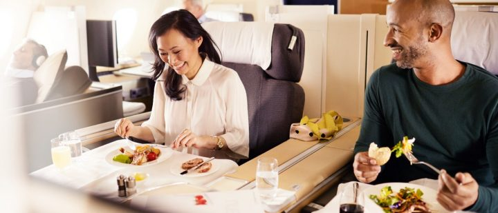 Lufthansa First Class Dining Experience