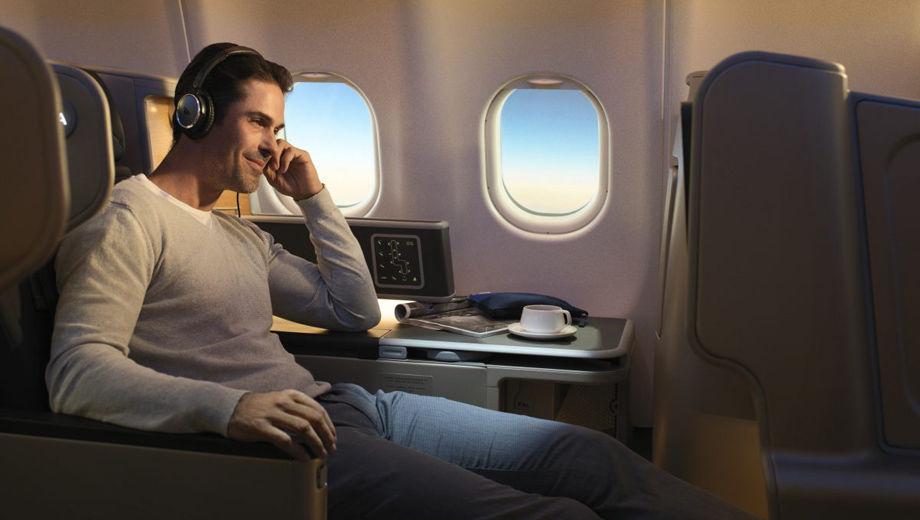 Qantas Business Class Entertainment