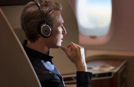 Qantas First Class Entertainment