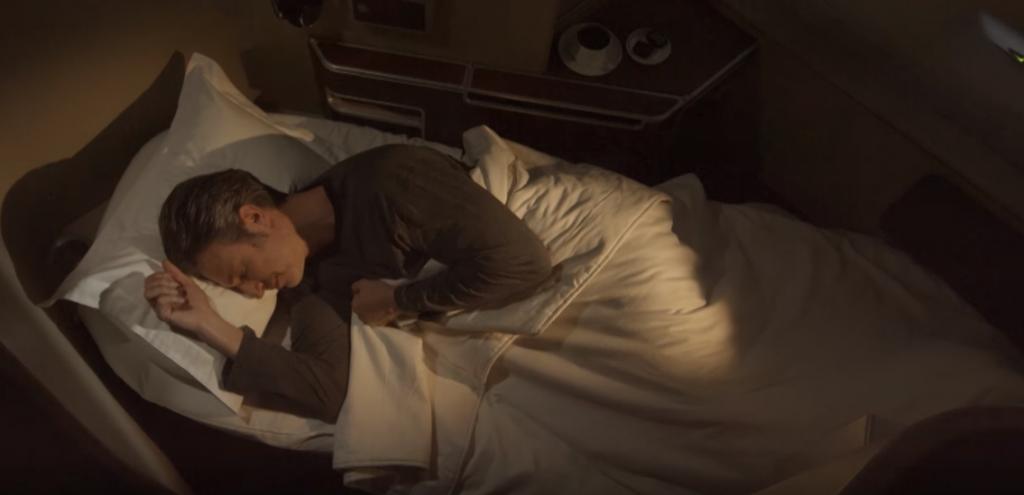 Qantas First Class Full Flat-Bed