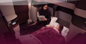 Qatar Airways Qsuite Flat Bed