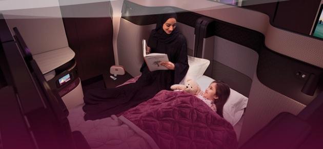 Qatar Airways Qsuite Flat Bed