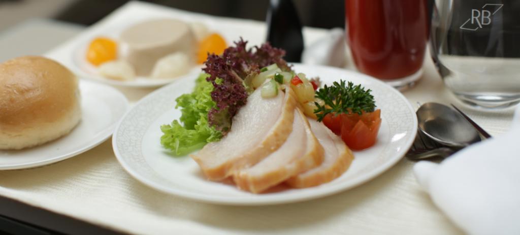 Royal Brunei Business Class Meal